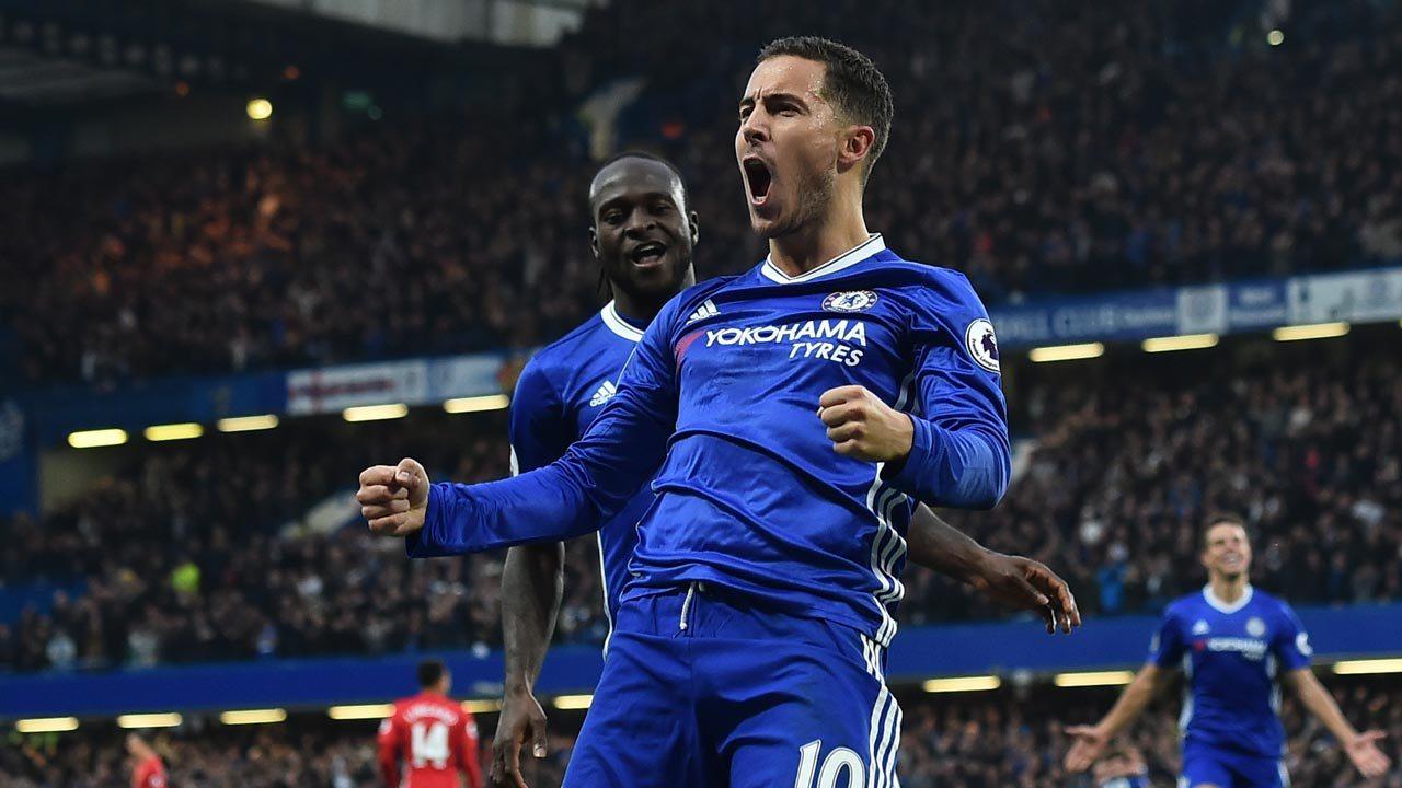 Eden Hazard yang kembali menemukan performa terbaiknya dibawah kepelatihan Conte