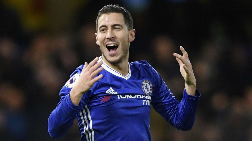 Eden Hazard lagi-lagi menjadi pahlawan The Blues saat menumbangkan City 2-1